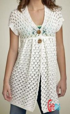 Would love to have the pattern for this. ♪ ♪ ... #inspiration_crochet #diy GB - I'd use a bolero and add the bottom bit