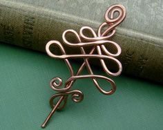 Little Tree Copper Shawl Pin Scarf Pin by nicholasandfelice, $20.00