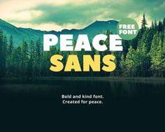 Peace Sans free sans-serif font