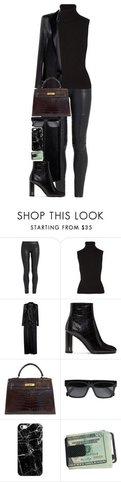 """""""No great mind has ever existed without a touch of madness."""" by quiche ❤ liked on Polyvore featuring The Row, Michael Kors, Anthony Vaccarello, Yves Saint Laurent, Hermès, CÉLINE and Casetify"""