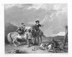 Antique Falconry print