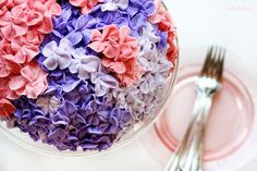 Hydrangea cake - I need to get some fun icing tips so I can start decorating!