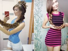 Daria Gubanova is a real-life Rapunzel (28 Photos)