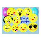 Emoji Fun Cute Trendy Smiley Faces Card