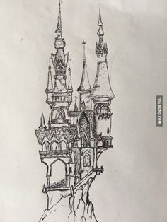 My fantasy castle drawing, I've always wanted to be able to draw lol