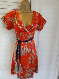 Karen Millen Red Chinese style dress uk 10 eu 38 us 6 | eBay