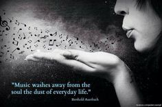 blows dusty music notes from hand Music washes away from the soul the dust of everyday life. Music Is Life, My Music, Music Stuff, Soul Music, Live Music, Music Mood, Fun Stuff, My Escape, Wise Quotes