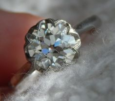 1.71ct OEC Flowery Custom Platinum Solitaire by David Klass : Show Me the Bling! (Rings,Earrings,Jewelry) • Diamond Jewelry Forum - Compare Diamond Prices, Discussions & Diamond Information