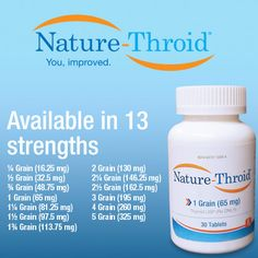 Nature-Throid is available in 13 strengths to meet patients' individual needs. #thyroid #hypothyroidism #natural