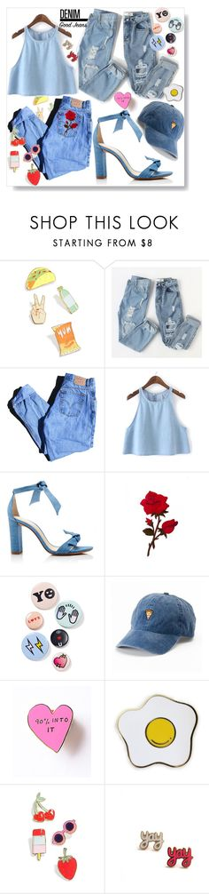 """Denim Denim Denim"" by ruthllless ❤ liked on Polyvore featuring Celebrate Shop, Levi's, Alexandre Birman, Bing Bang, SO, denim, Blue, jeans and goodjeans"