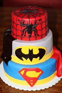 Super Hero Cake.. Great for boys