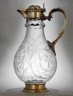 Paris 1880 Carafe, Decanter, Antique Tea Sets, Fine China Dinnerware, Vintage Props, Rustic Art, Glass Dishes, Antique Glass, Vintage Glassware