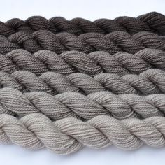 Taupe Gradated Yarn Set.