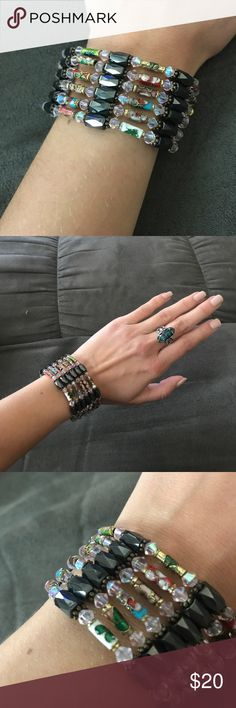 Stunning magnetic bracelet Beautifully crafted unique bracelet! 🌷 will match any outfit day or night. Wear this with a little black dress on your next night out and you will get tons of compliments! Jewelry Bracelets