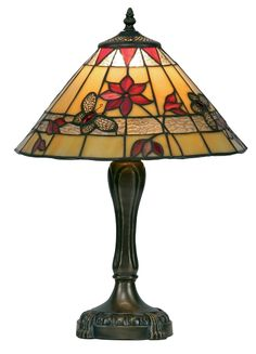 """Tiffany table lamp 13"""" made by oaks lighting and supplied by luxury lighting at discounts of up to 25% OT2612/13TL"""