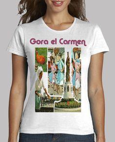 Camiseta mujer manga corta, El Carmen 2017 disponible en 9 colres por 20,90€