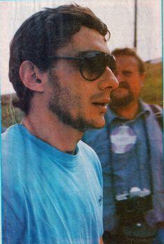 """Ayrton Senna with a beard, 1988. """""""