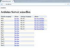 Kleiner Webserver · senseBox:edu
