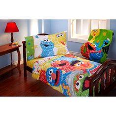 Sesame Street Scribbles Toddler Bedding Set Kid's Bedroom, Multi-Color, for sale online Toddler Blanket, Toddler Bed, Sesame Street Room, Colorful Bedding, Baby Nursery Bedding, Girl Bedding, Babies Nursery, Childrens Beds, Queen Bedding Sets