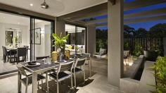Diseño de terraza de la casa Carlisle Homes, Outdoor Furniture Sets, Outdoor Decor, Open Concept, Facade, Outdoor Living, House Plans, New Homes, Floor Plans