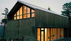 Prefab Friday: Plus House In Sweden Arkitecthus, Swedish Prefab Barns, Prefabricated Houses, Prefab Homes, Modular Homes, Cabin Homes, Log Homes, Modern Barn House, Barn House Plans, Barn Plans