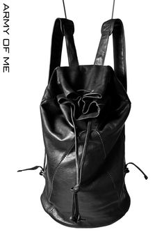 【追加入荷】 ARMY OF ME  OVERLOCK STITCHED LEATHER BACKPACK 16298