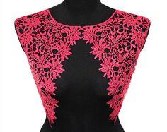 Cherry #Crochet Lace Collar