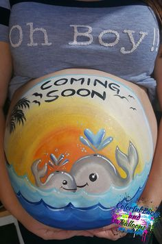 #bellypainting, #MaternityArt, #maternitybellypainting, #mommyandbabywhalepainting, #bellybumppaintings, #Colorfulfacesandballoons, #facepainter, #balloontwister, #holidayfacepainter, #4thofjulyfacepainter, #facepaintinginriversidecounty, #facepaintingininlandempire, #balloontwisterinriversidecounty, #balloontwisterininlandempire. Bump Painting, Whale Painting, Balloon Painting, Face Painting Tutorials, Face Painting Designs, Pregnant Belly Painting, Belly Art, 3d Chalk Art, Belly Bump