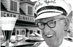 Nat Bailey was an American-born Canadian restaurateur best known for building the first drive-in restaurant in Canada, in and developing the first car-hop tray. His chain of White Spot restaurants continues to thrive today. Old Pictures, Old Photos, Triple O's, Iconic Photos, Historical Pictures, Vancouver Island, Photo Archive, The Good Old Days, Famous Faces