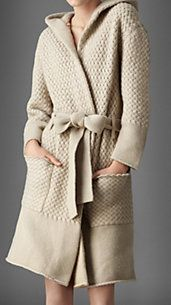 Waffle Knit Cashmere Dressing Gown