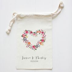 Blushing Hearts Wedding Favor Bags  custom wedding favor bags | wedding chicks