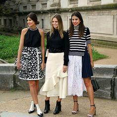 Mariana, Fernanda e Amanda Cassou na Semana de Moda de Paris, Spring-Summer 2016, PFW