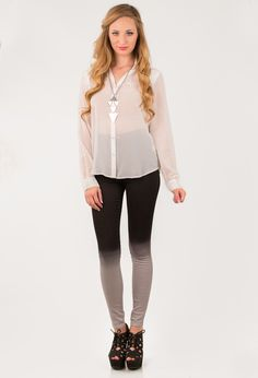 Dripping In Silver Skinnies - Nectar Clothing