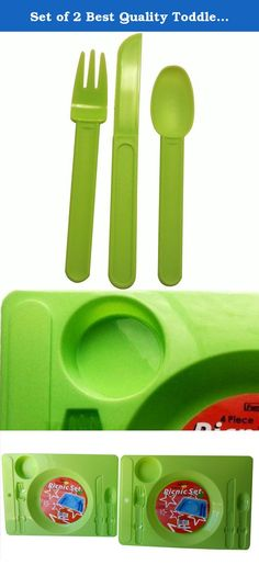 Set of 2 Best Quality Toddler Trays with Cup Holder, Spoon, Fork & Knife Snack Tables for TV, Snacking Picnic, Beach Parks or Camping (Green). Makes a great gift idea for campers, travelers and outdoor picnics. Also, great for toddlers that are learning to eat on their own. Whether you're at the beach, a picnic, camping or even at home, these handy trays are so easy to use, wash and store away. Perfect for gifting.