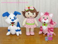 Coleção Moranguinho Baby 06 bonecos