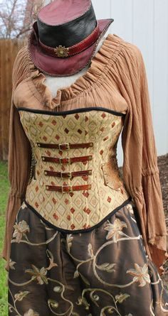 Custom Steampunk Corset by SilverLeafCostumes on Etsy, $250.00