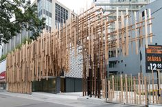 Image 6 of 11 from gallery of Japan House São Paulo / Kengo Kuma & Associates + FGMF. Photograph by Kengo Kuma & Associates Architecture Design, Cultural Architecture, Facade Design, Ancient Architecture, Sustainable Architecture, Contemporary Architecture, Landscape Architecture, House Design, Kengo Kuma