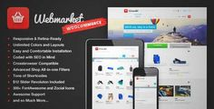 Download and review of Webmarket - WP Theme for Advanced Online Shops, one of the best Themeforest eCommerces themes