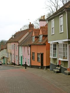 Dutch style 17th century town houses in #Colchester, #Essex, England