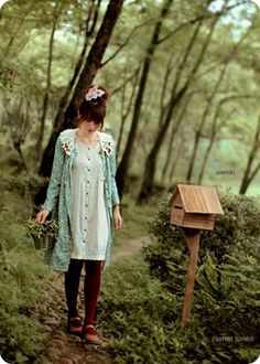 Mori Girl - Click image to find more Women's Fashion Pinterest pins