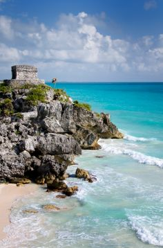 Tulum, Mexico. The most breathtaking site for a Mayan city. We slept in a Moroccan tent on the beach one night and in a garden casita on another. Had the most delicious fish tacos on the beach.