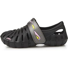 New Black Velcro Beach Aqua Water Sports Athletic Womens Shoes Sandals (5.5) ** Click image for more details.