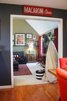 Transition to family room