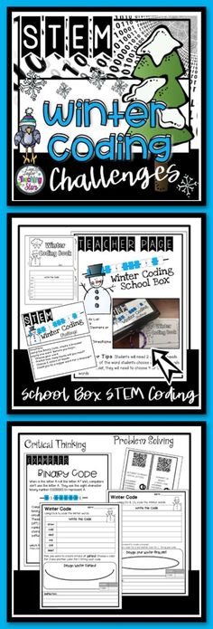 Winter Binary Coding Do you want to introduce your students to coding? This is a easy way to get your students using and understanding binary code.