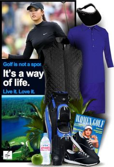 Check out this cool sporty golf look exclusive at lorisgolfshoppe.polyvore.com #ootd #golf #lorisgolfshoppe