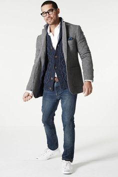 Men's Favorite Looks via Lands' End - Layering