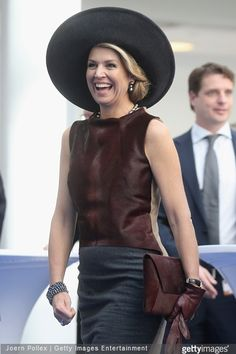 Queen Maxima of The Netherlands and King Willem-Alexander of The Netherlands at the Draeger Medical GmbH state visit on March 19, 2015 in Luebeck, Germany.