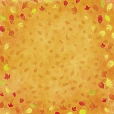 Autumn Thanksgiving Falling Leaves 12 x 12 Paper ❤ liked on Polyvore