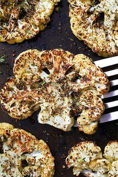 Roasted Cauliflower Steaks —  Enjoy a true 5-star dinner with spot-on flavors. eatwell101.com