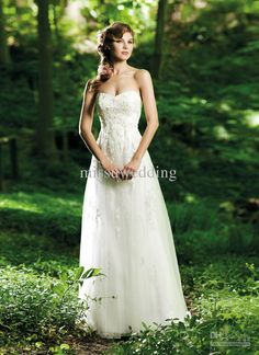 Bling Free shipping Sweetheart Empire Organza Applique Bead Open back Bridal gowns Wedding dresses